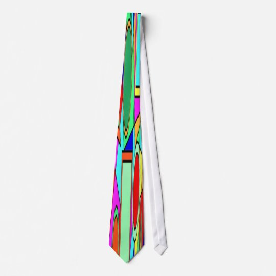 COLORFUL ABSTRACT NECK TIE