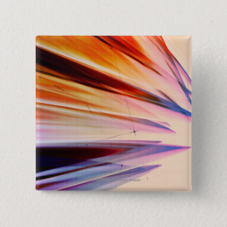 Colorful abstract objects against white 15 cm square badge