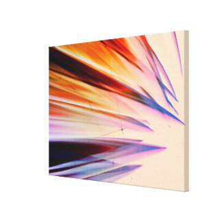 Colorful abstract objects against white canvas print