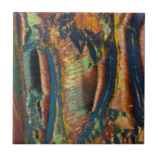 Colorful abstract of a Tiger eye Tile