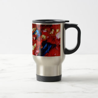 Colorful abstract oil painting coffee mug