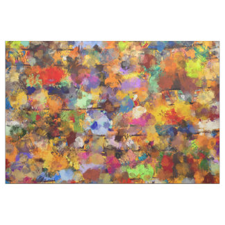 Colorful Abstract Paint Splatter Art Fabric
