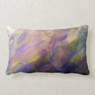 Colorful Abstract Painted Plum Purple Pillow