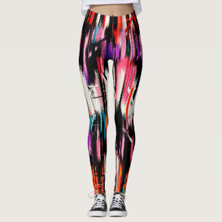 Colorful Abstract Painting #10 Leggings
