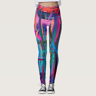 Colorful Abstract Painting #19 Leggings