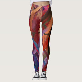 Colorful Abstract Painting #20 Leggings