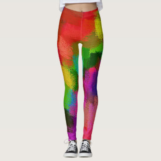 Colorful Abstract Painting #2 Leggings