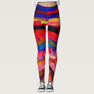 Colorful Abstract Painting #5 Leggings