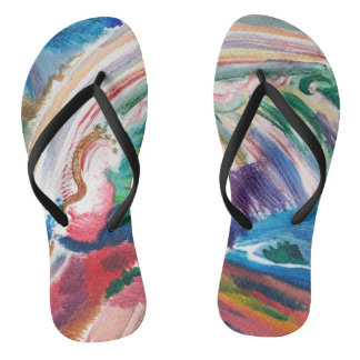 colorful abstract painting flipflops