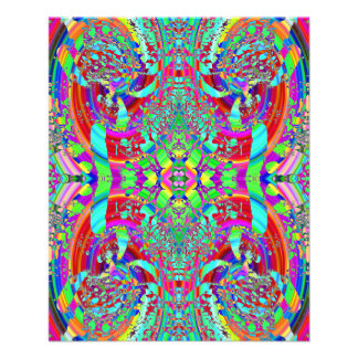 Colorful Abstract Pattern. 11.5 Cm X 14 Cm Flyer
