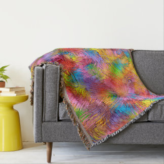Colorful Abstract Pattern Background Throw Blanket