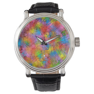 Colorful Abstract Pattern Background Wristwatch