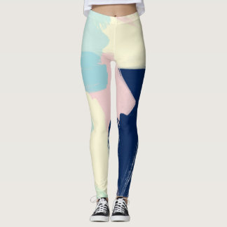 Colorful abstract pattern design leggings