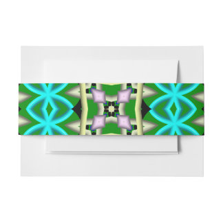 Colorful Abstract pattern Invitation Belly Band