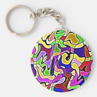 colorful abstract pattern Keychain