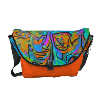 Colorful Abstract Pattern Commuter Bags