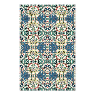 Colorful Abstract Pattern Personalised Stationery