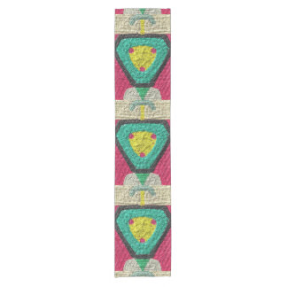 Colorful abstract pattern short table runner