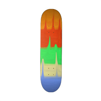 Colorful abstract pattern 21.3 cm mini skateboard deck