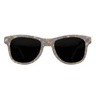 Colorful Abstract Pattern Sunglasses