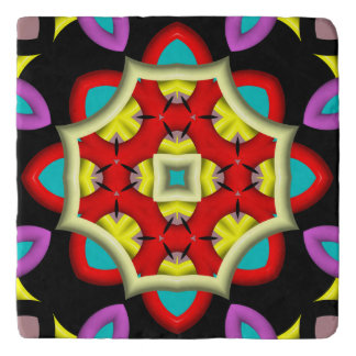 colorful abstract pattern trivet