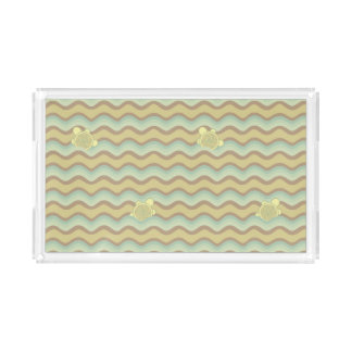 colorful abstract pattern, waves acrylic tray