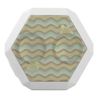 colorful abstract pattern, waves white boombot rex bluetooth speaker