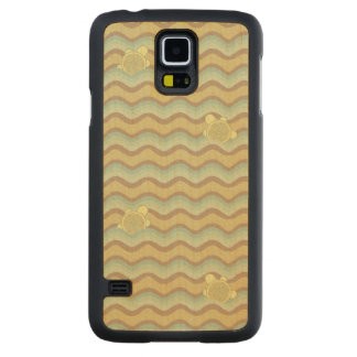 colorful abstract pattern, waves carved maple galaxy s5 case