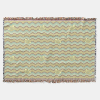 colorful abstract pattern, waves throw blanket