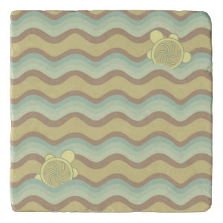 colorful abstract pattern, waves trivet