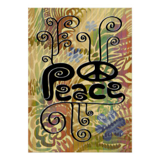 Colorful Abstract Peace Poster