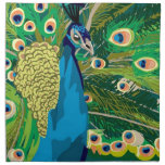 Colorful Abstract Peacock Napkins