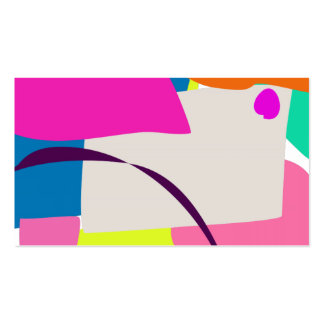 Colorful Abstract Picture Business Card Templates