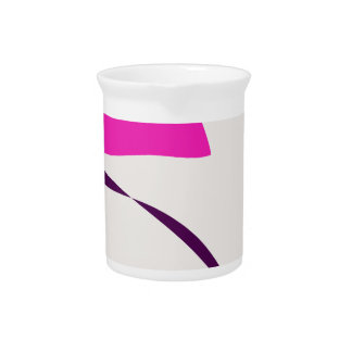 Colorful Abstract Picture Drink Pitcher