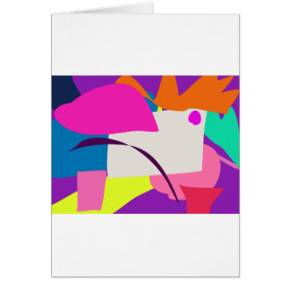 Colorful Abstract Picture Greeting Card