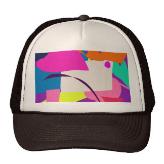 Colorful Abstract Picture Trucker Hat