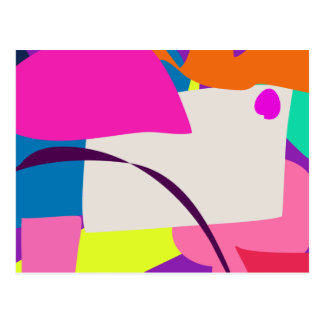 Colorful Abstract Picture Postcard