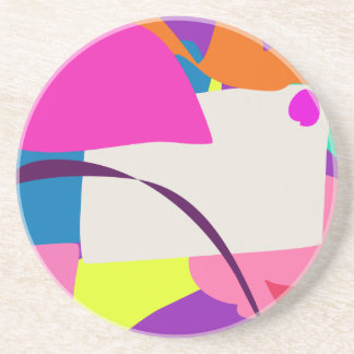 Colorful Abstract Picture Sandstone Coaster