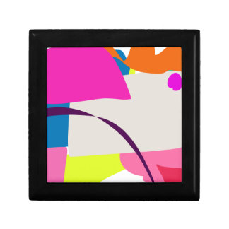 Colorful Abstract Picture Small Square Gift Box