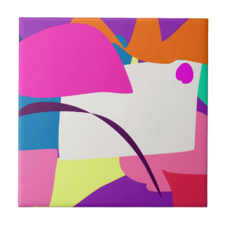 Colorful Abstract Picture Small Square Tile