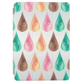 Colorful Abstract Pink Green Brown & Orange Drops iPad Air Cover
