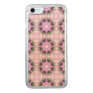 Colorful abstract pink purple green floral pattern carved iPhone 8/7 case