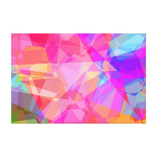 Colorful Abstract Polygon Textures Canvas Print