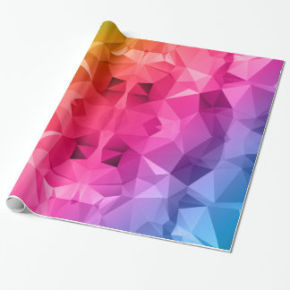 Colorful Abstract Polygonal / Low poly art Wrapping Paper