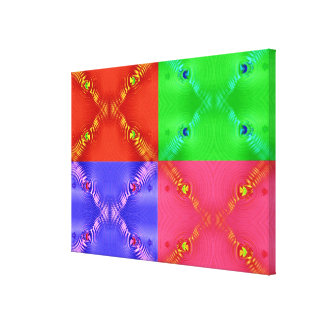 Colorful abstract pop art stretched canvas prints