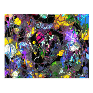 Colorful Abstract Postcard