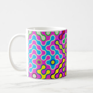 Colorful Abstract Psychedelic Pop Art Pattern Coffee Mug