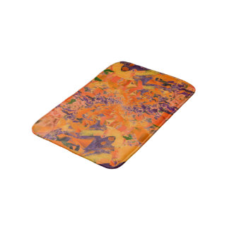 Colorful Abstract Purple And Brown Background Bath Mat