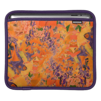 Colorful Abstract Purple And Brown Background iPad Sleeve