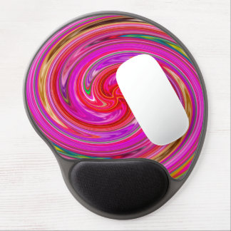 Colorful Abstract Purple And Lilac Whirls Gel Mouse Mat